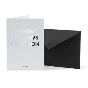 Carte FORM FOLLOWS FUNCTION - Cinq Points & Heureux comme un Prince