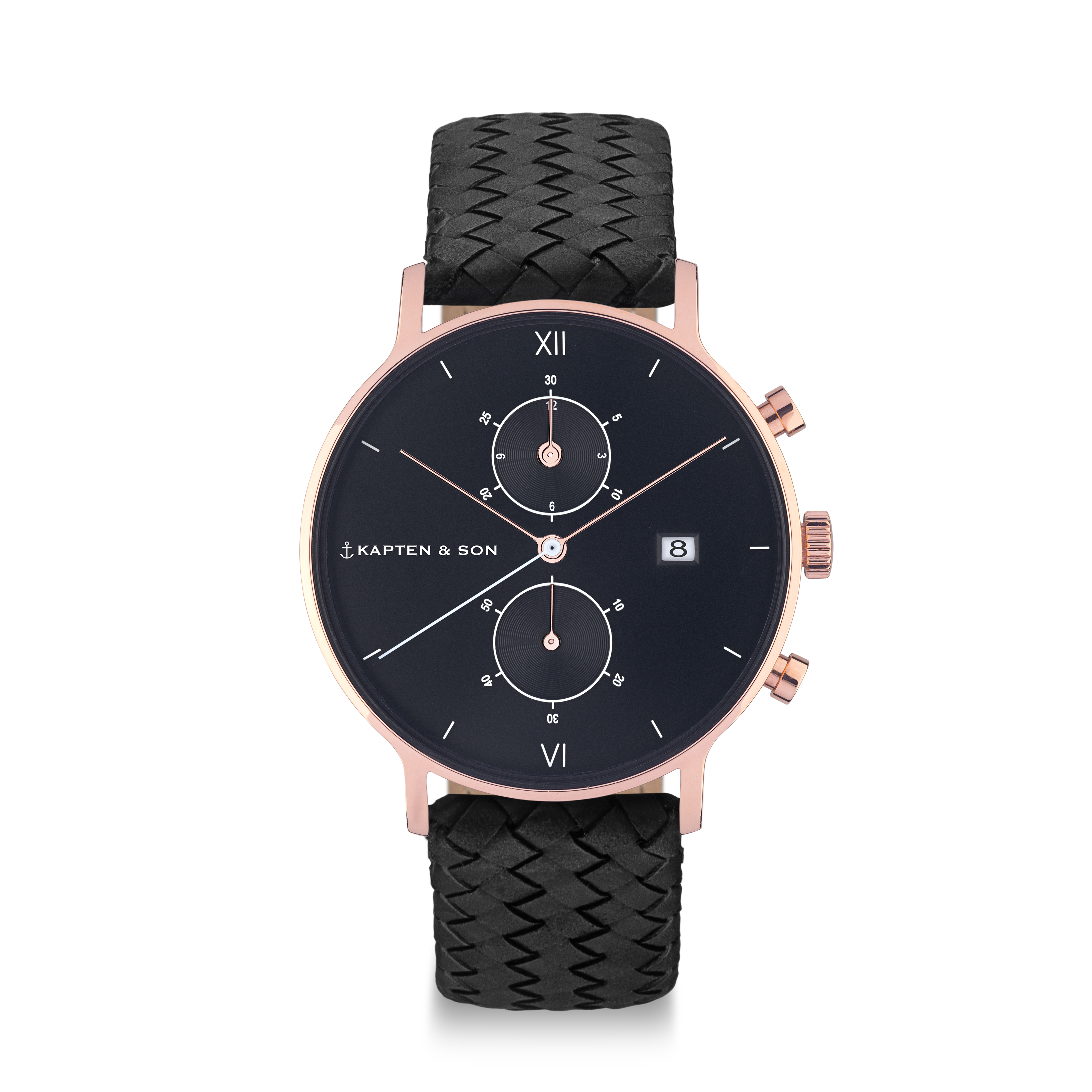 Montre chrono All Black - Kapten & Son & Heureux comme un Prince
