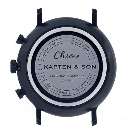 Montre chrono Black Midnight Woven - Kapten & Son & Heureux comme un Prince