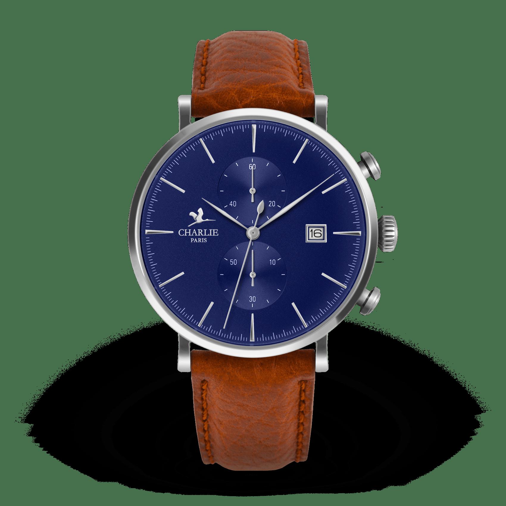 Montre chronomètre bleu - Charlie Paris & Heureux comme un Prince