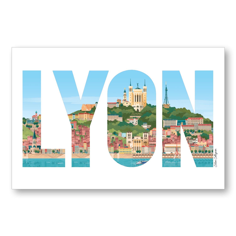 Carte postale Lyon Fourvière - Les éditions du Lyonnais & Heureux comme un Prince