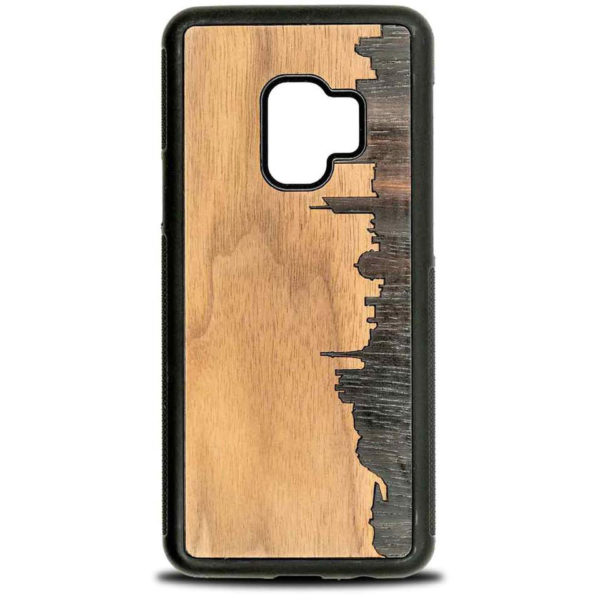 Coque Samsung Lyon - Coque en bois & Heureux comme un Prince