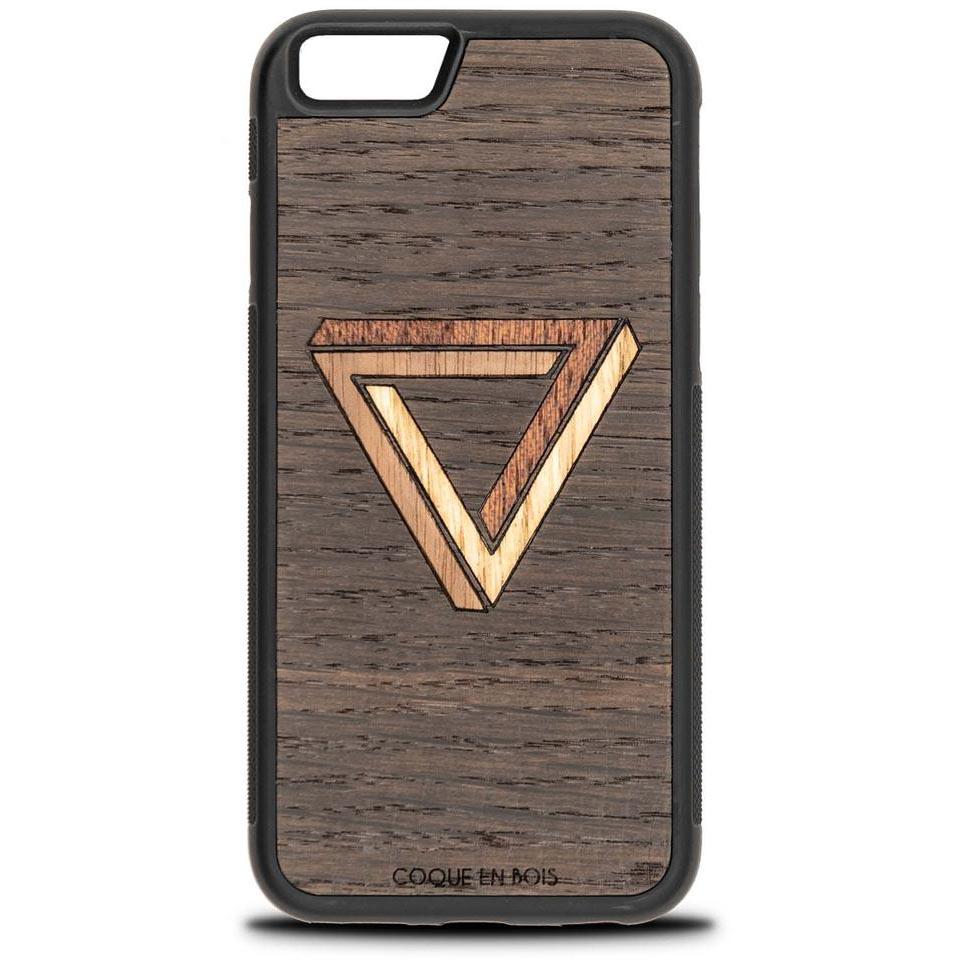 Coque iPhone triangle - Coque en bois & Heureux comme un Prince