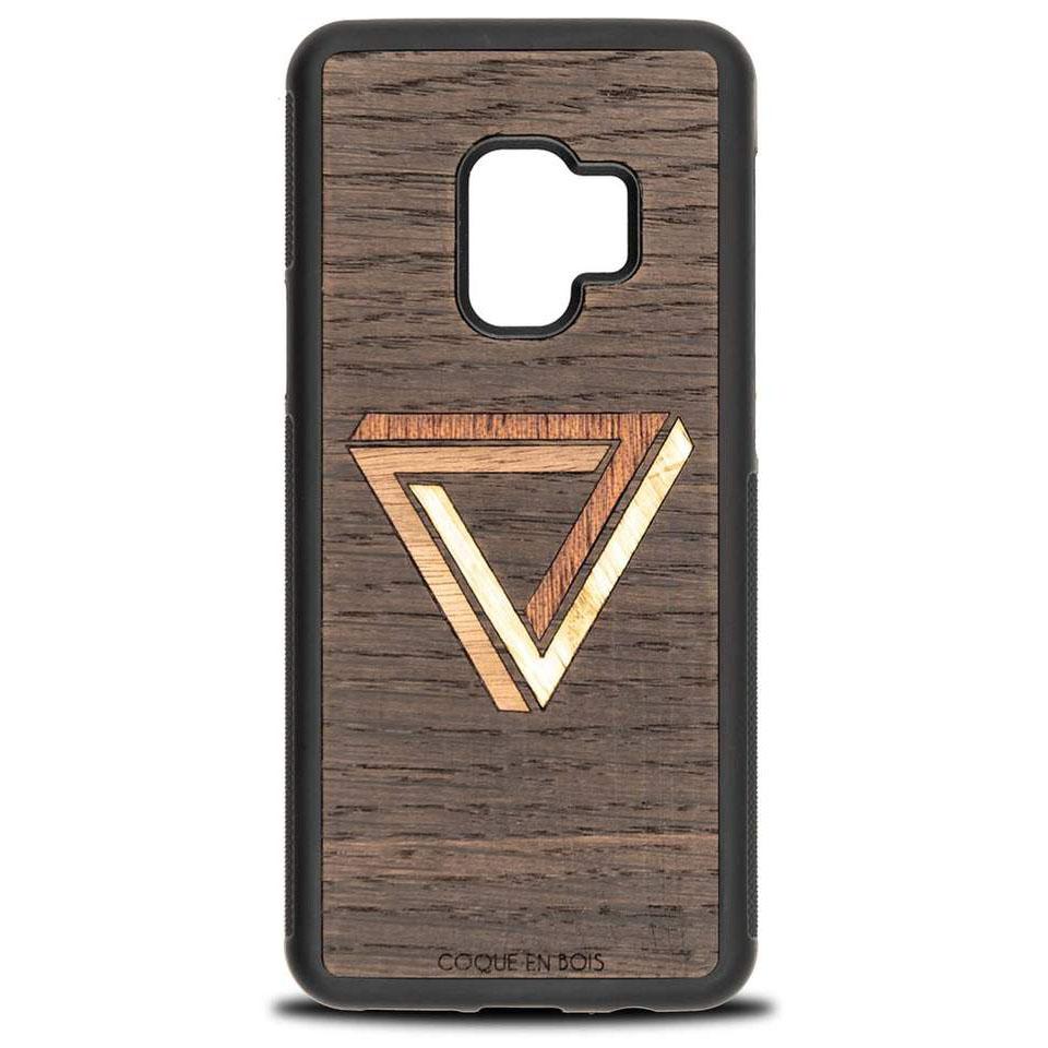 Coque Samsung triangle - Coque en bois & Heureux comme un Prince