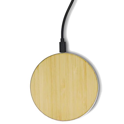 Chargeur sans fil standard QI - Coque en bois & Heureux comme un Prince