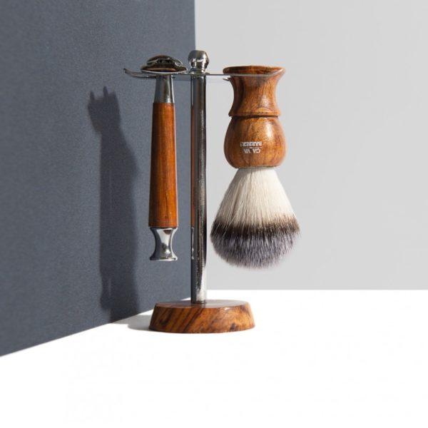 Coffret de rasage à l'ancienne - Ca va barber & Heureux comme un Prince