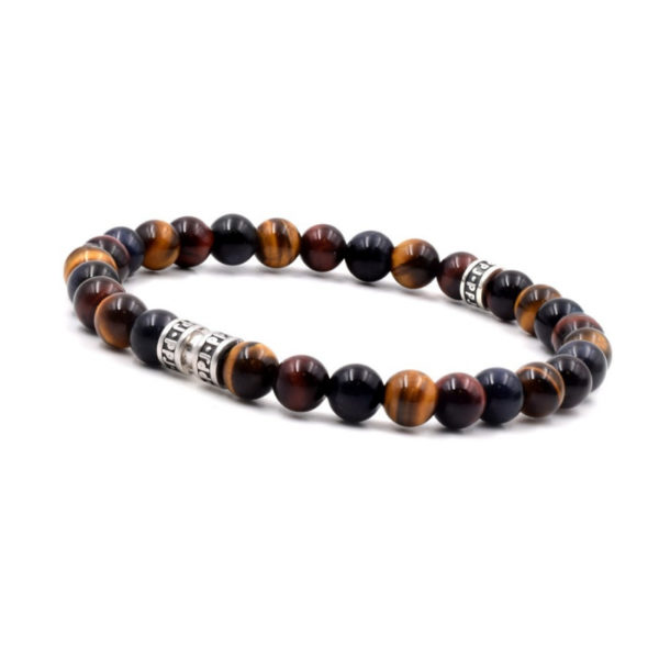 bracelet-homme-ppj-oeil-de-tigre-3-couleurs-6mm heureux comme un prince